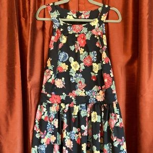 ModCloth floral midi with POCKETS